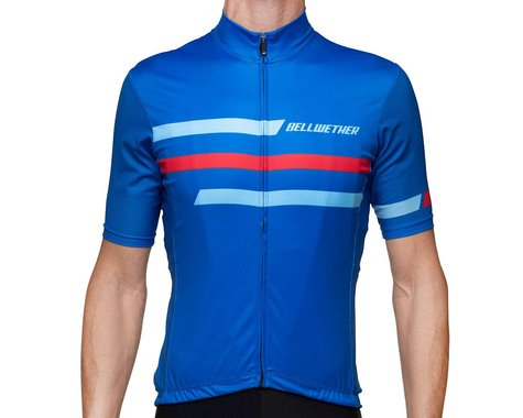 Bellwether Edge Cycling Jersey (True Blue/Red) (XL)