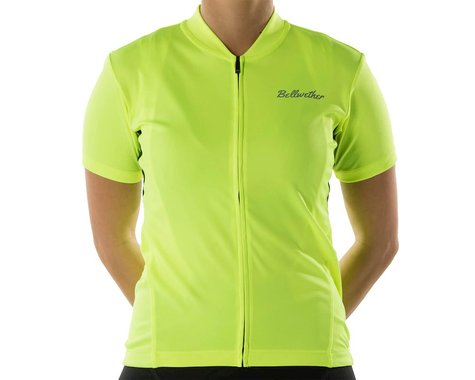 Bellwether Women's Criterium Jersey (Hi-Vis/Black) (XL)