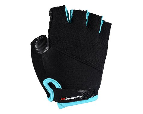 Bellwether Women's Gel Supreme Cycling Gloves (Black/Aqua) (M)