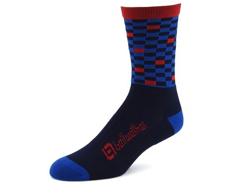 Bellwether Pixel Sock (Navy/Cyan/Ferrari) (S/M)