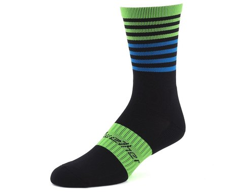 Bellwether Fusion Sock (Black/Citrus/Cyan) (S/M)
