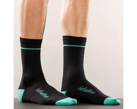 Bellwether Optime Socks (Black/Light Blue)
