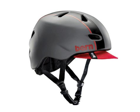 Bern Brentwood Helmet (Matte Grey/Red)
