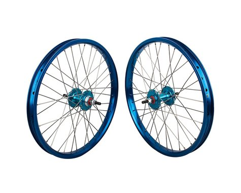 "Black Ops DW1.1 20"" Wheel Set (Blue/Silver/Blue) (3/8"" Axle) (20 x 1.75)"