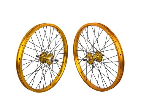 "Black Ops DW1.1 20"" Wheel Set (Gold/Black/Gold) (3/8"" Axle) (20 x 1.75)"