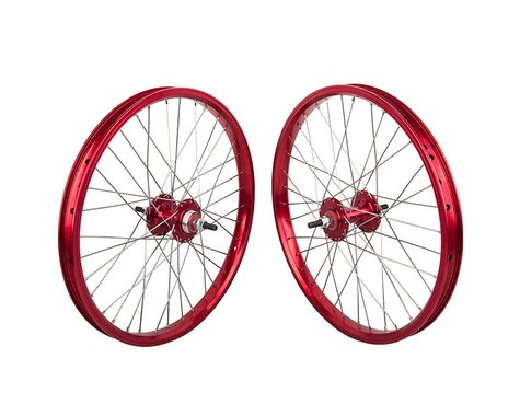 "Black Ops DW1.1 20"" Wheel Set (Red/Silver/Red) (3/8"" Axle) (20 x 1.75)"