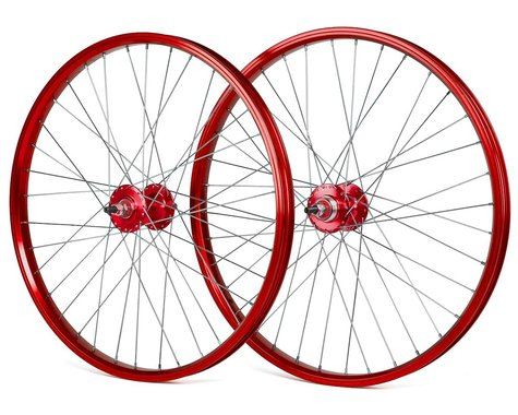 "Black Ops DW1.1 24"" Wheels (Red/Silver/Red) (24 x 1.75)"