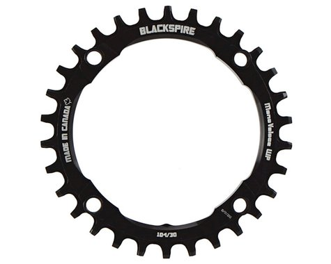 Blackspire Mono Veloce Wide Profile Chainring (Black) (104mm BCD) (Offset N/A) (30T)
