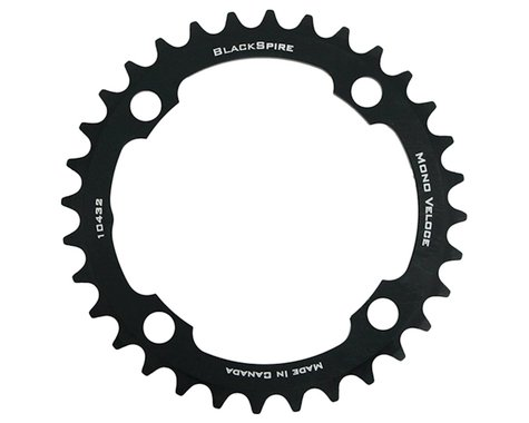 Blackspire Mono Veloce Chainring (Black) (104mm BCD) (32T)