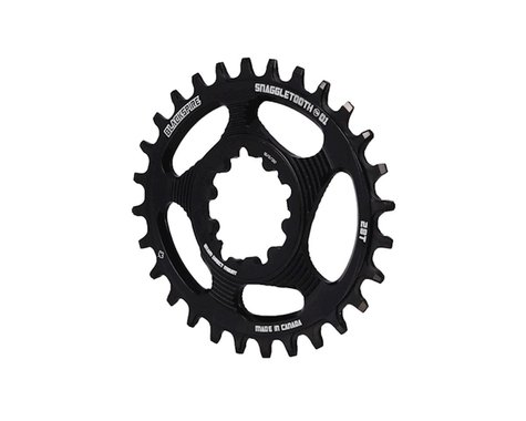Blackspire Snaggletooth GXP DM Oval Chainring (Black) (6mm Offset) (28T)
