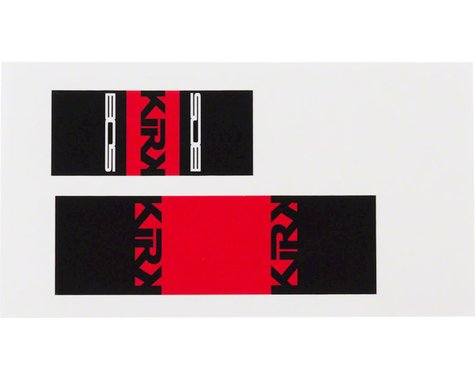 Bos Suspension Kirk2 Rear Shock Decal Kit Red