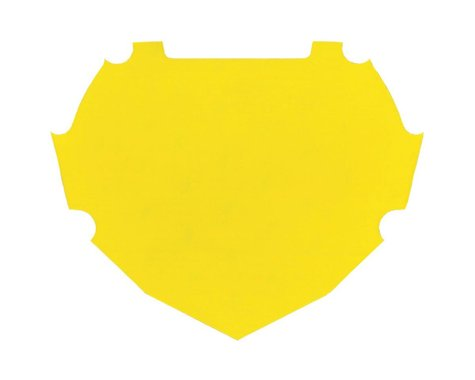 Box Number Plate Decal (Yellow) (S)