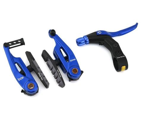 SCRATCH & DENT: Box Brake Caliper Box Three V W/Lever (Blue) (85mm)