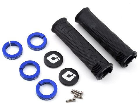 Box Hex Grips by ODI (Black/Blue)