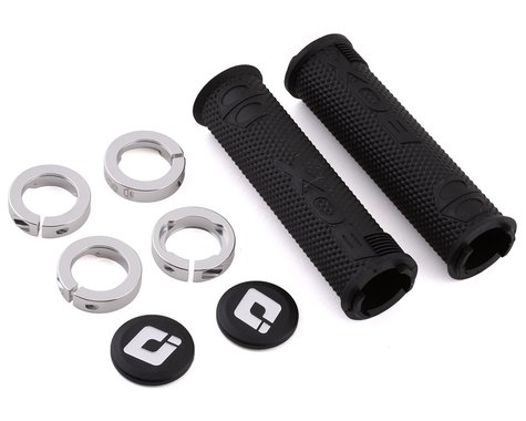 Box One Lock-On Grips (Black/Silver)