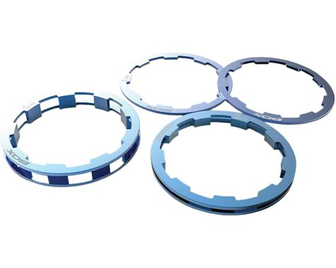Box Components Zero Shimano Compatible Cassette Spacers 1mm to 5mm, Blue