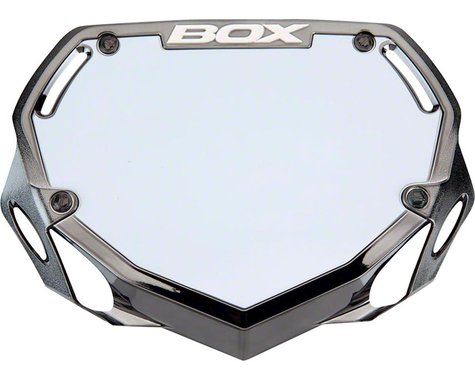 Box Phase 1 Number Plate (Black/Chrome) (S)