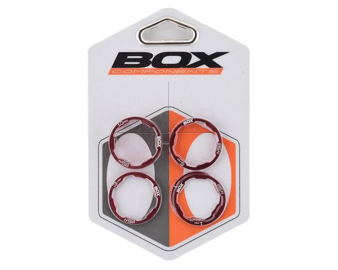 "Box One Stem Spacer Kit (Red) (5) (1"")"