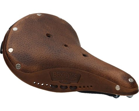 Brooks B17 Pre-Aged Women's Saddle (Dark Tan) (Black Steel Rails) (177mm)