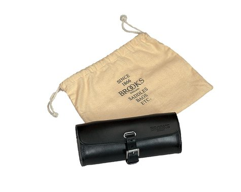 Brooks Challenge Leather Tool Bag (Black)