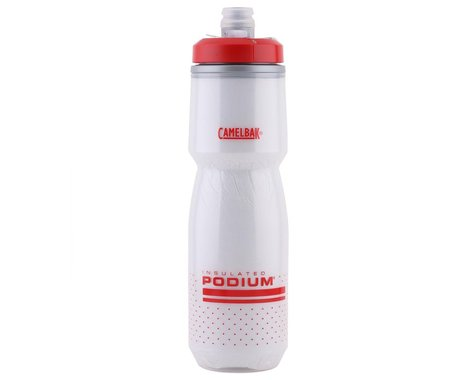 Camelbak Podium Chill Insulated Water Bottle (Fiery Red/White) (24oz)