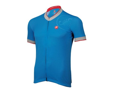 Castelli GPM FZ Short Sleeve Jersey (White)