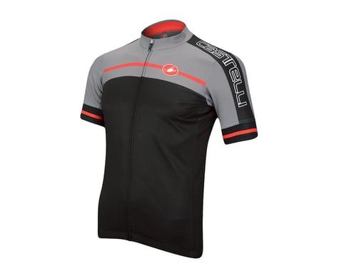 Castelli Velocissimo Short Sleeve Jersey - Performance Exclusive (Matte Black/High Vis)
