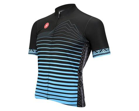 Castelli Elevation Short Sleeve Jersey - Performance Exclusive (Black/Blue)