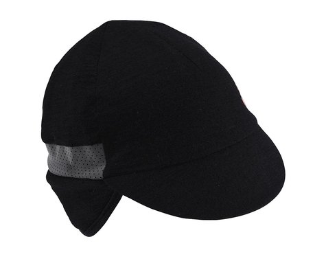 Castelli Risvolto Due Cap (Black) (One Size)