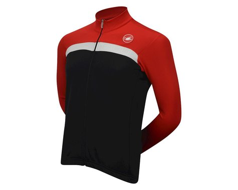Castelli Criterium FZ Long Sleeve Jersey (Black/Red/White)