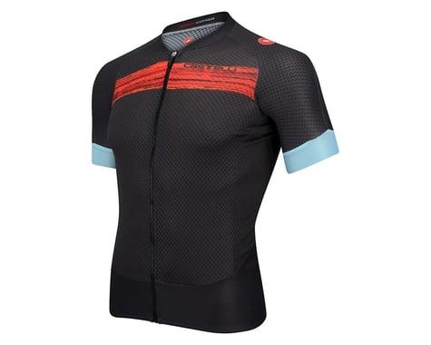 Castelli Climber's 2.0 FZ Short Sleeve Jersey (Matte Grey/Red)