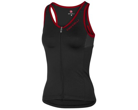 Castelli Women's Solare Top (Black/Red) (L)