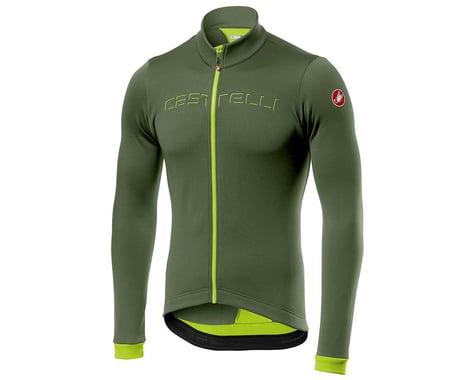 Castelli Fondo Long Sleeve Jersey (Military Green/Yellow Fluo) (XL)
