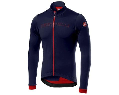 Castelli Fondo Long Sleeve Jersey (Saville Blue/Red) (S)