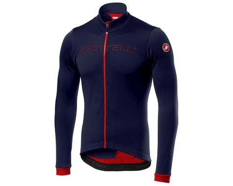 Castelli Fondo Long Sleeve Jersey (Saville Blue/Red) (XL)