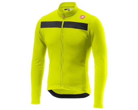 Castelli Puro 3 Long Sleeve Jersey (Yellow Fluo) (2XL)