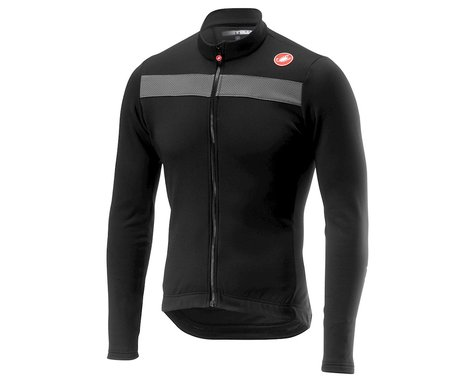 Castelli Puro 3 Long Sleeve Jersey (Light Black) (2XL)