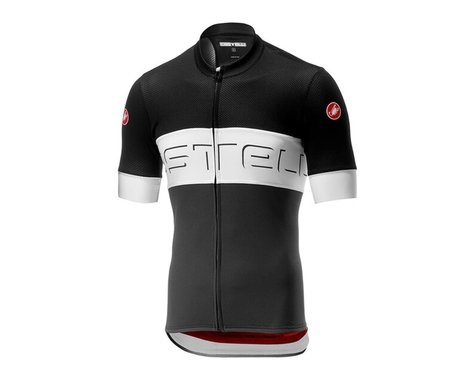 Castelli Prologo VI Short Sleeve Jersey (Black Ivory/Dark Grey) (S)