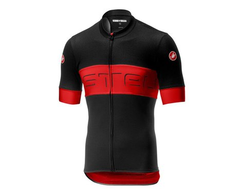 Castelli Prologo VI Short Sleeve Jersey (Black/Red) (S)