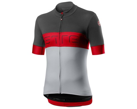Castelli Prologo VI Short Sleeve Jersey (Grey/Red/Silver) (L)