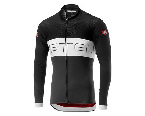 Castelli Prologo VI Long Sleeve Jersey (Black Ivory/Dark Grey) (M)