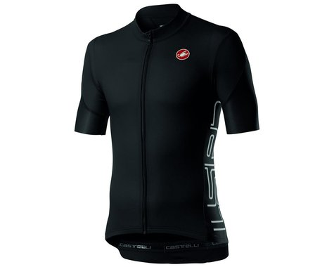 Castelli Entrata V Short Sleeve Jersey (Light Black) (S)