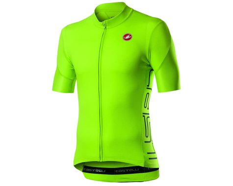 Castelli Entrata V Short Sleeve Jersey (Chartreuse) (L)