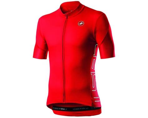 Castelli Entrata V Short Sleeve Jersey (Fiery Red) (L)