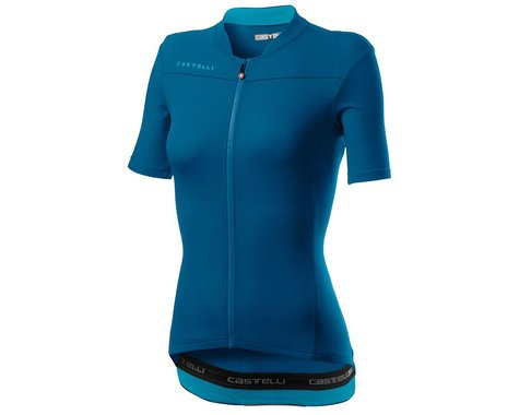 Castelli Anima 3 Women's Short Sleeve Jersey (Marine Blue) (S)
