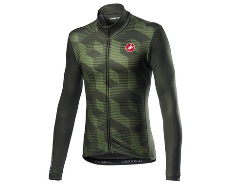 Castelli Cubi Long Sleeve Jersey (Military Green) (M)