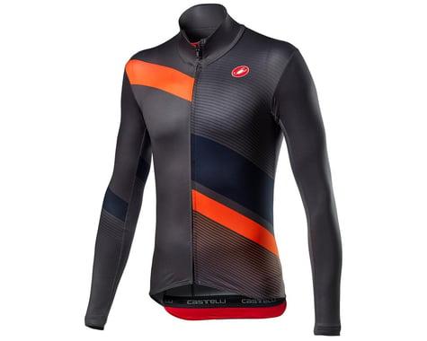 Castelli Mid Thermal Pro Long Sleeve Jersey (Dark Grey/Orange) (2XL)