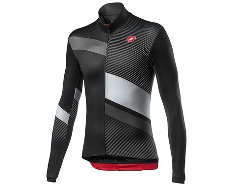 Castelli Mid Thermal Pro Long Sleeve Jersey (Black/Grey/Silver) (2XL)