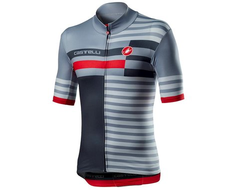 Castelli Mid Weight Pro Short Sleeve Jersey (Vortex Grey) (M)