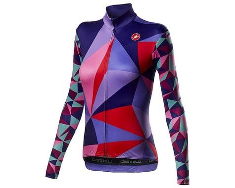 Castelli Women's Triangolo Long Sleeve Jersey (Multicolor Purple) (M)